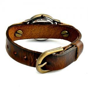Vintage Leather Band Girl Lady Wome..