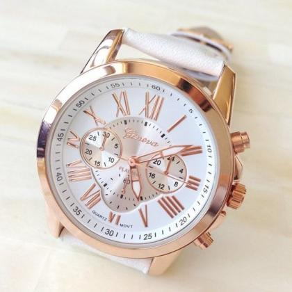 3 Eye Watch Retro Quartz Watch Leat..