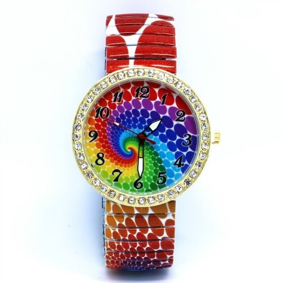 Peacock Pattern Stainless Steel Band Unisex Wrist Watch For Men Lady Retro Round Quartz Watch