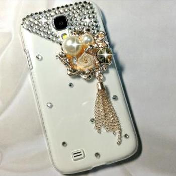 3D Handmade Deluxe Flower Crystal Design Case Cover For Samsung Galaxy S 4 S4 IV LTE i9500 i9505