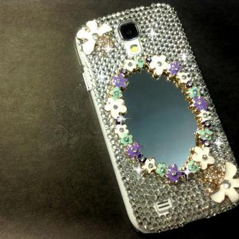 3D Handmade Mirror Crystal Design Case Cover For Samsung Galaxy S 4 S4 IV LTE i9500 i9505