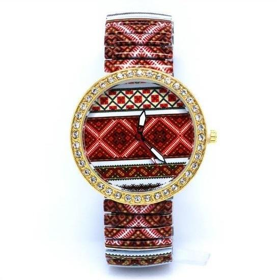 Unique Pattern Stainless Steel Band Unisex Wrist Watch For Men Lady Retro Round Quartz Watch Pattern 2